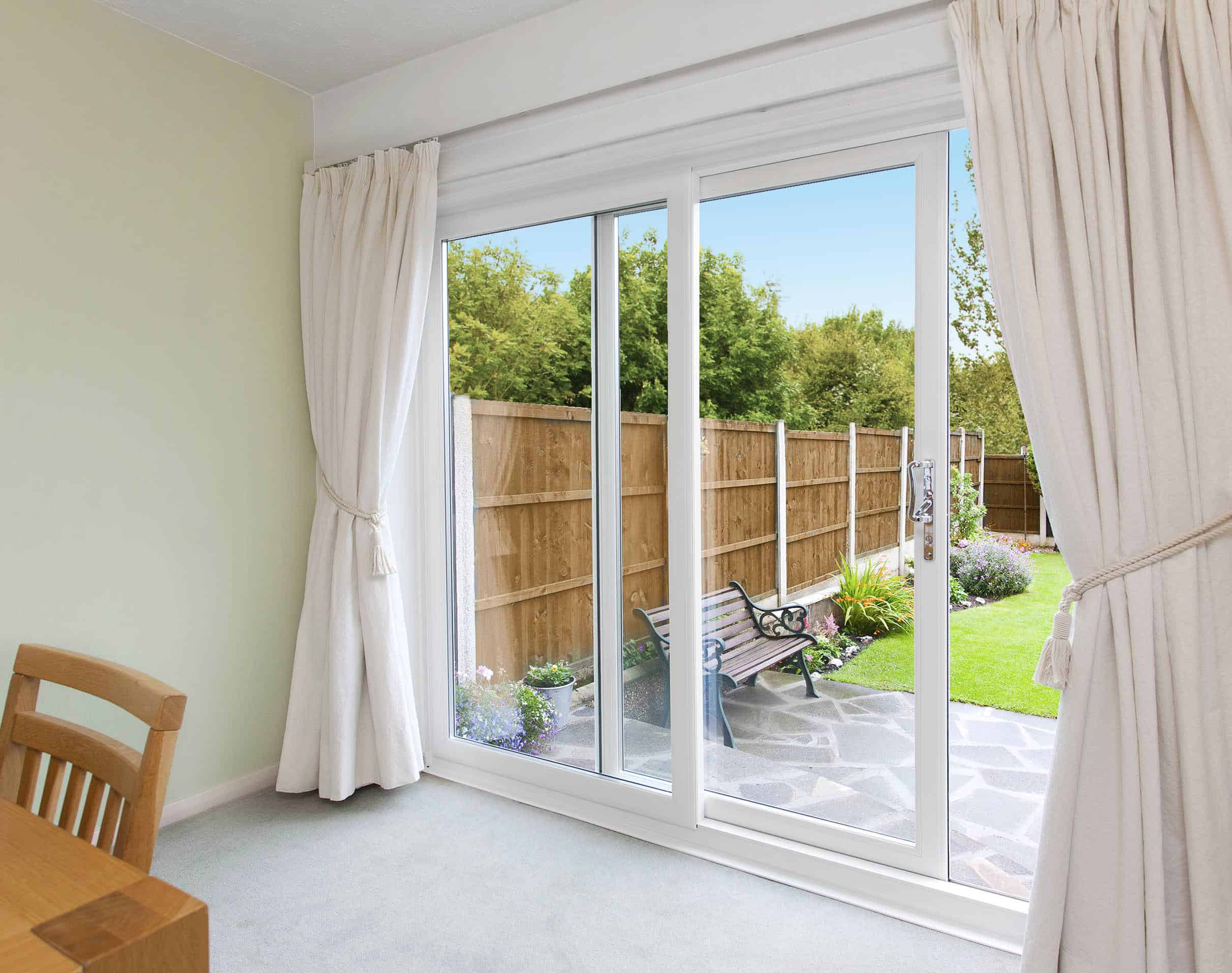 Upvc doors double glazed exterior back doors reading for Patio doors with side windows