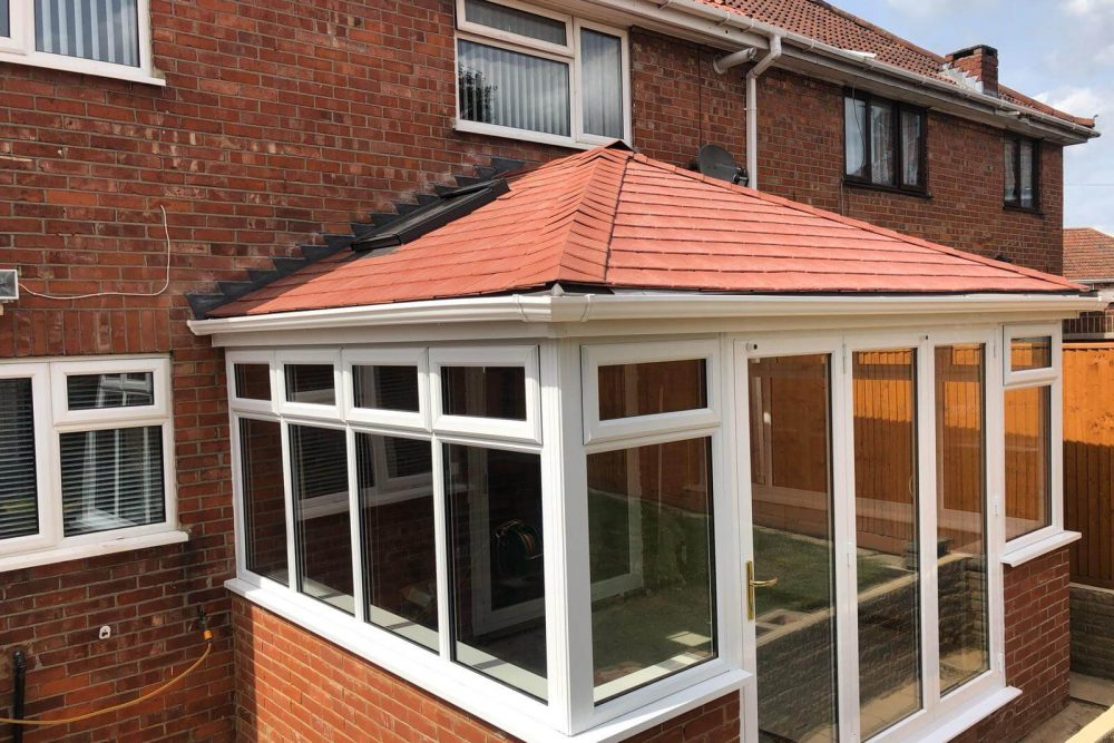 conservatory with tiled roof installation reading