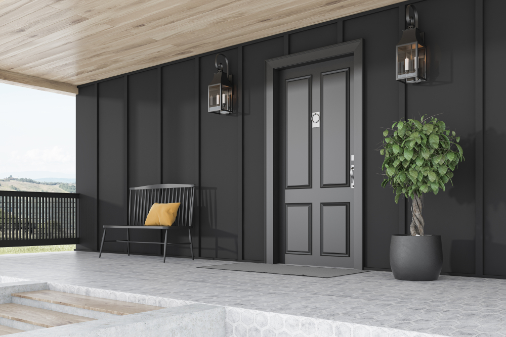 stylish and secure front door furniture