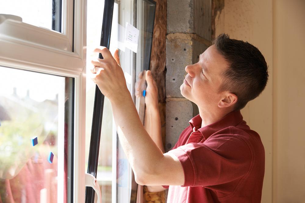 replacing cracked double glazing